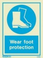 5498D Jalite Photoluminescent Wear Foot Protection PPE Safety Sign