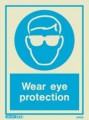 5497D Jalite Photoluminescent Wear Eye Protection PPE Safety Sign