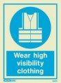 5567D Jalite Photoluminescent Wear High Visibility (Hi Vis) Clothing PPE Safety Sign