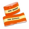 Fire Warden Armband - Hi Visibility Photoluminescent Material Jalite AB3020