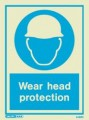 5499D Jalite Photoluminescent Wear Head Protection PPE Safety Sign
