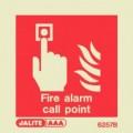 6257B Jalite Photoluminescent Fire Alarm Call Point ID Sign 80x80mm